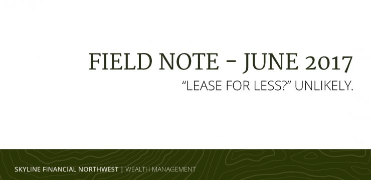 """""""Lease for less?"""" Unlikely."""